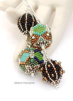 Sale Earrings reduced 40%  beaded beads by Sharri Moroshok