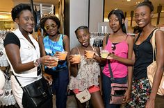 Berlei bra shoppers during Serena Williams' Macy's kickoff in American market. 8/27/16