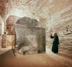 The Serapeum in Egypt, located near the pyramid of Djoser in Saqqara, is an enigmatic sort of underground bunker, first entered by Auguste Mariette in 1851. It is hundreds of meters long with 24 large side-chambers. These side chambers contain enormous granite sarcophagi. They were cut from a single piece of rock and weigh between 60 and 80 tons, and about 20 tons for the lid.