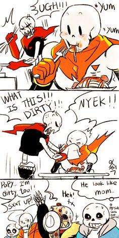 "sojjeok: "" i think a underfell papyrus image! mom uf papyrus! """