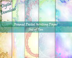 Writing Paper, Printable Paper, Your Image, Pastel, Frame, Printer, Fox, Printables, Etsy