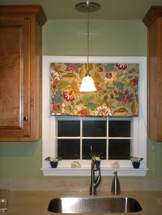Roman shade for window above sink - World Market