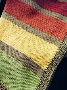 Baby Blanket Knitted Cotton (travel size) - Golden Basket on Etsy, $45.00