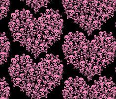 Rock Princess Pink Black Skull Hearts Concert Jolee/'s 3D Stickers