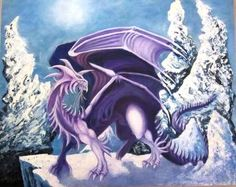 King Saraak is a stately, regal purple dragon who stands and reigns in the Ice World that he calls home. His mate is Queen Sarafina.