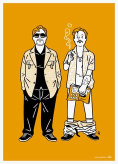 "I drew illustration for the movie ""The Nice Guys"". You can buy it here. - http://shop.delveweekly.com"