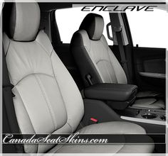 Buick Enclave Oyster Leather Interior - Customize Yours Today - canadaseatskins.com #buick #leatherseats #automotiveleather