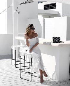 All white vacation style