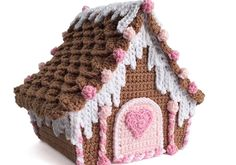 Crochet Candy Cottage Gingerbread House Tutorial  free crochet pattern in 3 parts