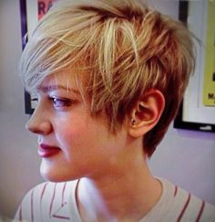 Love this layered, long Pixie..