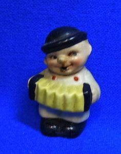 Vintage German Goebel Porcelain Man with Accordeon Figure / Figurine #C