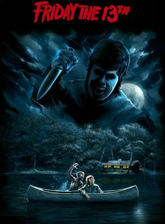 Friday the 13th horror movie poster Slasher