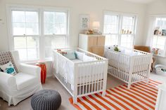 This nursery alone makes me want children.  I love the mix of traditional and modern and the colors... oh the colors!