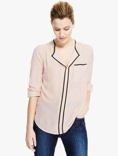 Marks & Spencer: 3/4 Sleeve Tiped #Women #Blouse