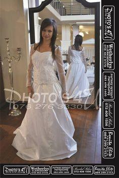 2 piece long sleeve wedding dress at Bridal Bliss