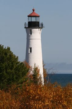 Crisp Point Lighthouse, Paradise, MI, USA --  I was in this light house when it was hit by lightning, it was quite an exhilarating experience.