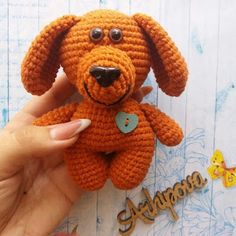 1000 схем амигуруми на русском: Собачка Малыш амигуруми