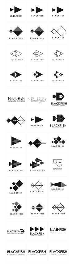 Blackfish Seafood House Branding by A. Adrienne Samuel, via Behance. Beautiful exploration shown here