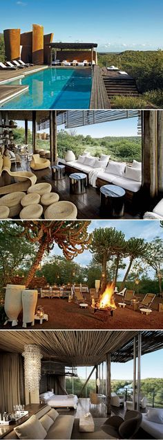 Contextually appropriate and beautiful design: theSingita Lebombo Lodgein South Africa.  Related
