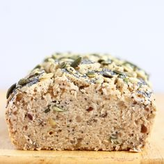 Gluten-Free Vegan Seeded Buckwheat Bread