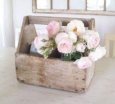 DIY..Old tool box Flower Caddy
