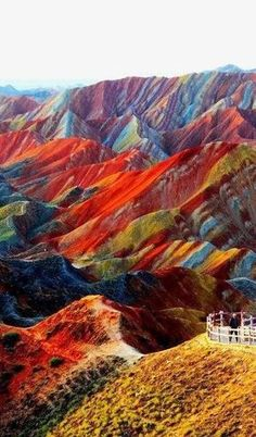 "See 7 photos and 4 tips from 19 visitors to Zhangye Danxia Geo Park. ""Beautifully striped rock formations define the Danxia Landform near Zhangye in. Zhangye Danxia Landform, Places To Travel, Places To See, Beautiful World, Beautiful Places, Amazing Places, Wonderful Places, Formations Rocheuses, Places Around The World"