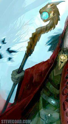 Dragon Headed Wizard Staff