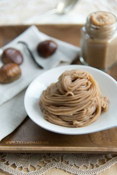 Maroni-Püree, Crème de marrons vanillée - www.thermomaid.me
