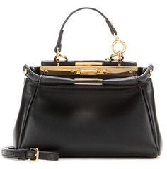 Fendi Micro Peekaboo Leather Shoulder Bag - Timeless & classy style (I need it!)