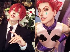 Hisoka Cosplay by @xxs0k0y0xx on Twitter : HunterXHunter