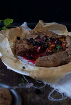 Verbena & Thyme Infused Plum & Blackberry GF Galette and 5 badass reasons to go forage! on www.earthsprout.com