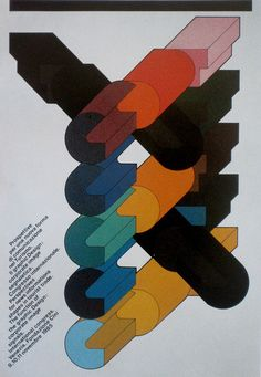 poster for the International Congress in Venice by Mimmo Castellano (1985)