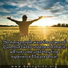 So many people want the power of God...