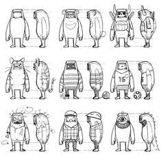 design toy sketch by artieyoon on DeviantArt Character Model Sheet, Character Modeling, Comic Character, Character Reference, 3d Modeling, Cartoon Design, Cartoon Styles, 3d Modellierung, Desenho New School