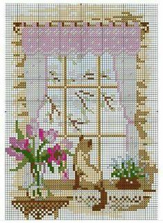 Window cross stitch pattern