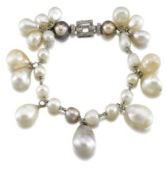 Suzanne Belperron Natural pearl and diamond bracelet, circa 1935 | lot | Sotheby's