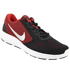 Nike Revolution 3 Running Shoes - Mens University Red Metallic Silver Black White