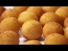 BOLITAS de patata. Ideales como APERITIVO o como guarnición - Gorka Barredo - YouTube Tapas, Relleno, Appetizers, Peach, Gluten Free, Fruit, Vegetables, Base, Recipes