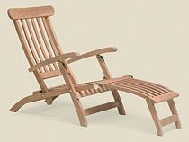 Teak Steamer Lounging Recliner The classic teak deck chair. Folds flat for easy storage. Four reclining positions. UHW - Unique Furnishings For Home & Patio