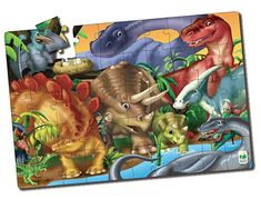The Dinosaurs Jumbo Floor Puzzle from the Learning Journey offers a fun and exciting way for your little one to learn about prehistoric animals. The large pieces are easy for little hands to grasp as they develop their hand-eye coordination. Toddler Toys, Kids Toys, Floor Puzzle, Puzzles For Toddlers, Prehistoric Animals, Kids Fashion Boy, Kids Hands, Educational Toys, Teaching Kids
