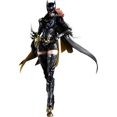 The DC Comics Variant Play Arts Kai Batgirl Action Figure is the latest DC Comics collectible from Square Enix. This unique rendition of Barbara Gordon as Batgirl would make a great addition to any Batgirl collection. Dc Comics, Action Comics, Comics Girls, Dc Heroes, Comic Book Heroes, Comic Books Art, Comic Art, Dc Batgirl, Batwoman