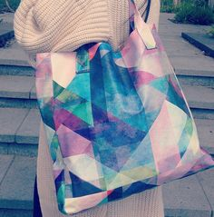 'Colour Blocking' tote bag designed by Mareike Böhmer. The perfect travel companion!  Buy it here: http://createandcase.com/65-tote-bags
