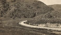 "The ""Big Bend"" curve on Laguna Cyn Rd in Orange County California, Vintage California, Emotional Pictures, San Luis Obispo County, Sierra Nevada, Documentary Photography, Laguna Beach, Historical Photos, Old Photos"
