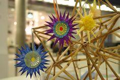 Paper stars Straw Pajaki polish chandelier dodoplan2