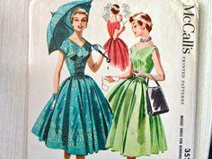 50s McCalls Dress Pattern by EpicVintage, $16.00