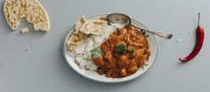 Butter chicken eli intialainen voikana on tunnettu intialainen ruoka, jossa broileri yhdistyy mausteiseen tomaatti-kermakastikkeeseen. Noin 2,20 €/annos* Garam Masala, Chana Masala, Butter Chicken, Naan, Chili, Curry, Food And Drink, Favorite Recipes, Baking