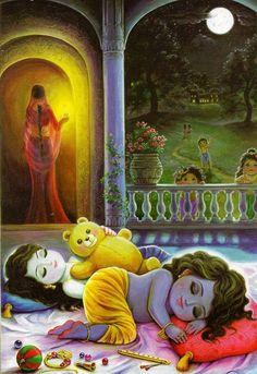 But not the gopas and Yashoda, only Krishna and Balarama.