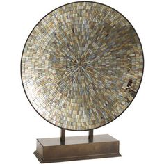 Amber Mosaic Platter with Stand @ Pier One...    another need for the office