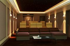 Acoustic treatments are fundamental to delivering a good home cinema room. It is important to minimise unwanted reflections in a room across all frequencies – . Home Theater Room Design, Home Cinema Room, Best Home Theater, Home Theater Rooms, Home Cinema Seating, Cinema Seats, Cinema Cinema, Home Theater Speakers, Home Theater Projectors