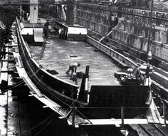 A barge being converted into a landing ship. Operation Sea Lion, Landing Craft, British People, Ww2 Photos, Battle Of Britain, Gods Creation, Luftwaffe, World War Two, Great Britain